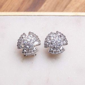 Cubic Zirconia French Clip Earrings